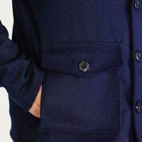 Navy Wilson Wool Shawl Coat   Bombinate