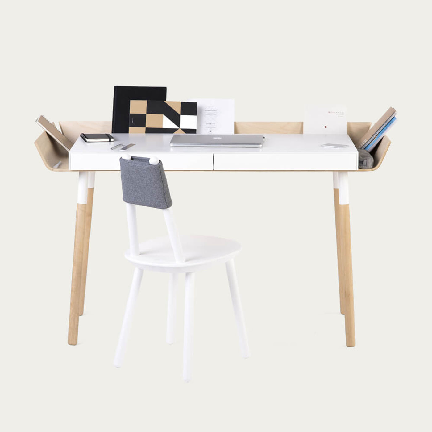 Ash 2 Drawer My Writing Desk | Bombinate