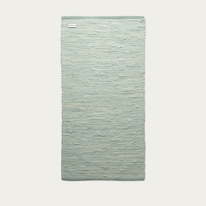 Modern Mint Cotton Rug | Bombinate