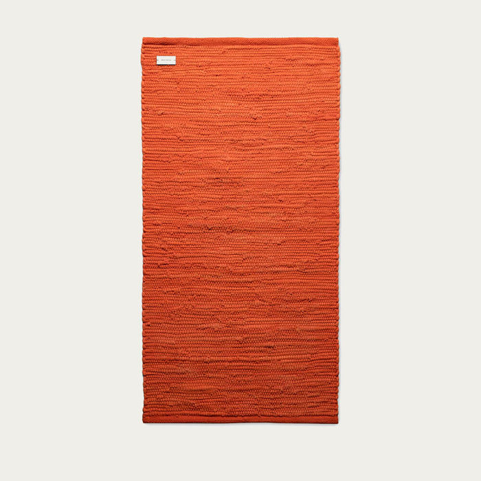 Solar Orange Cotton Rug | Bombinate