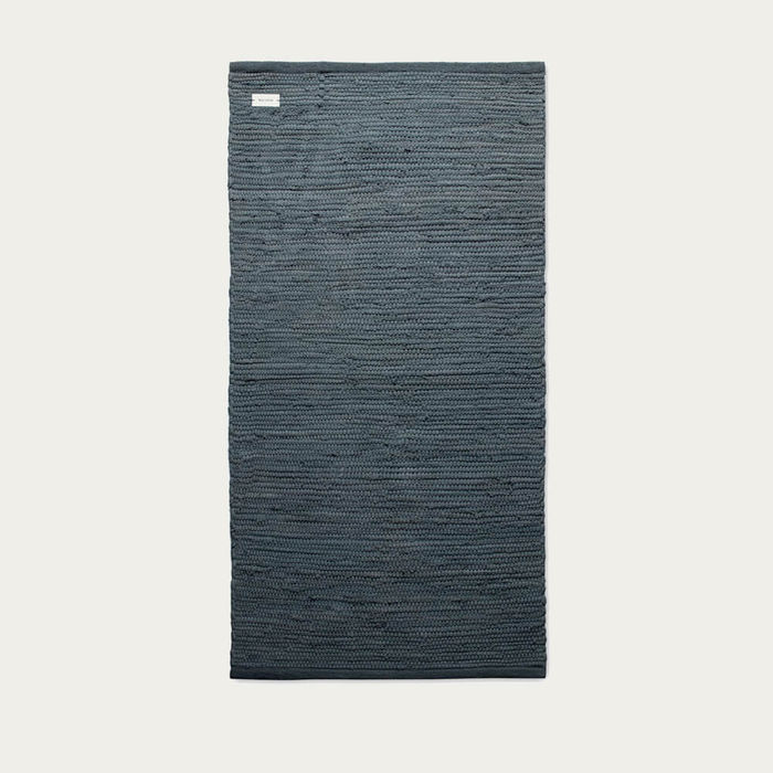 Steel Grey Cotton Rug | Bombinate