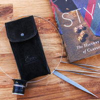 Black Suede Watch Pouch   Bombinate