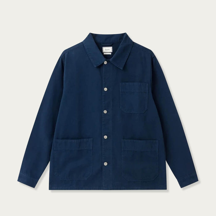 Navy Rowan Overshirt | Bombinate