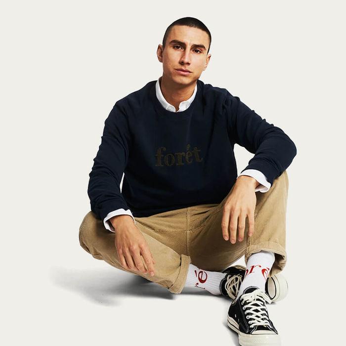 Navy/Stone Spruce Sweatshirt | Bombinate