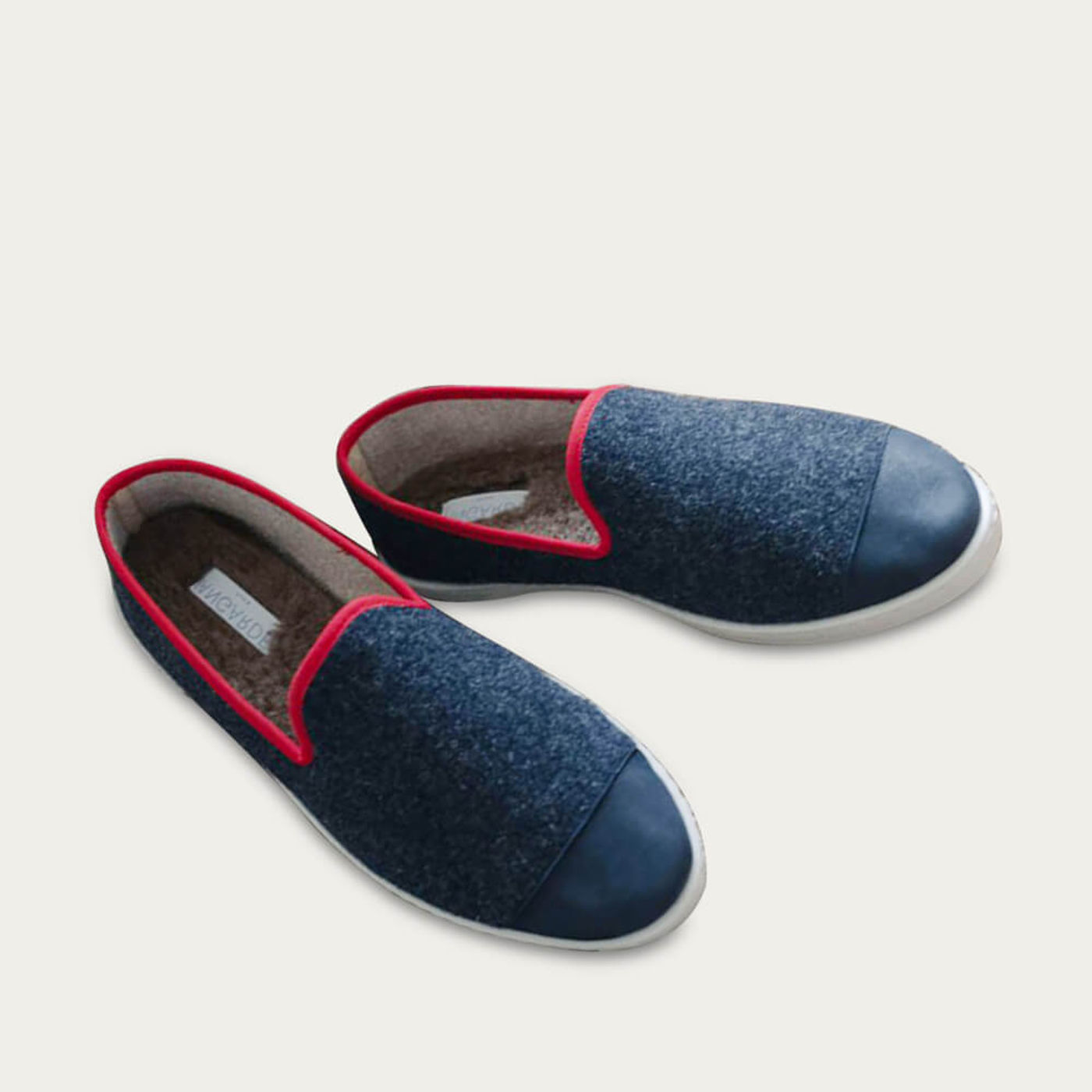 Navy Red AW Slippers | Bombinate