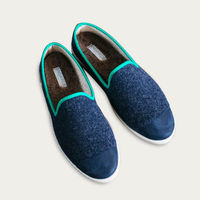 Navy Green AW Slippers | Bombinate