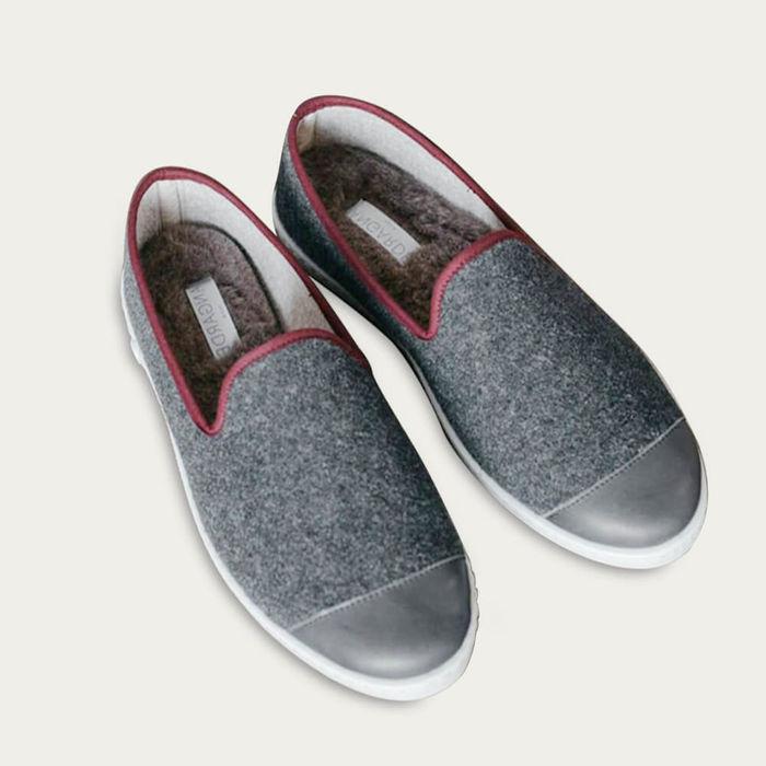 Grey Rubino AW Slippers   Bombinate