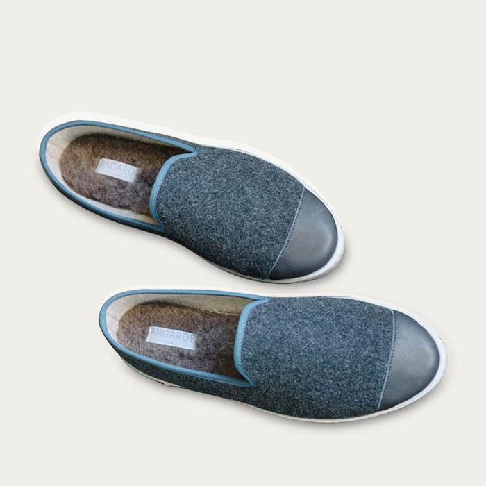 Grey Blue AW Slippers   Bombinate