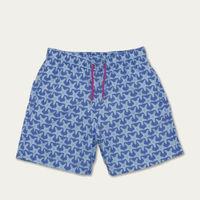 Bright and Pale Blue Starfish Swim Short | Bombinate