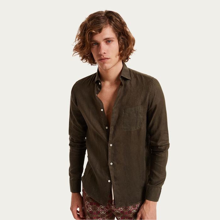 Verde Puglia Linen Shirt | Bombinate