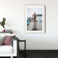 Dolce Vida Art Print White Frame   Bombinate