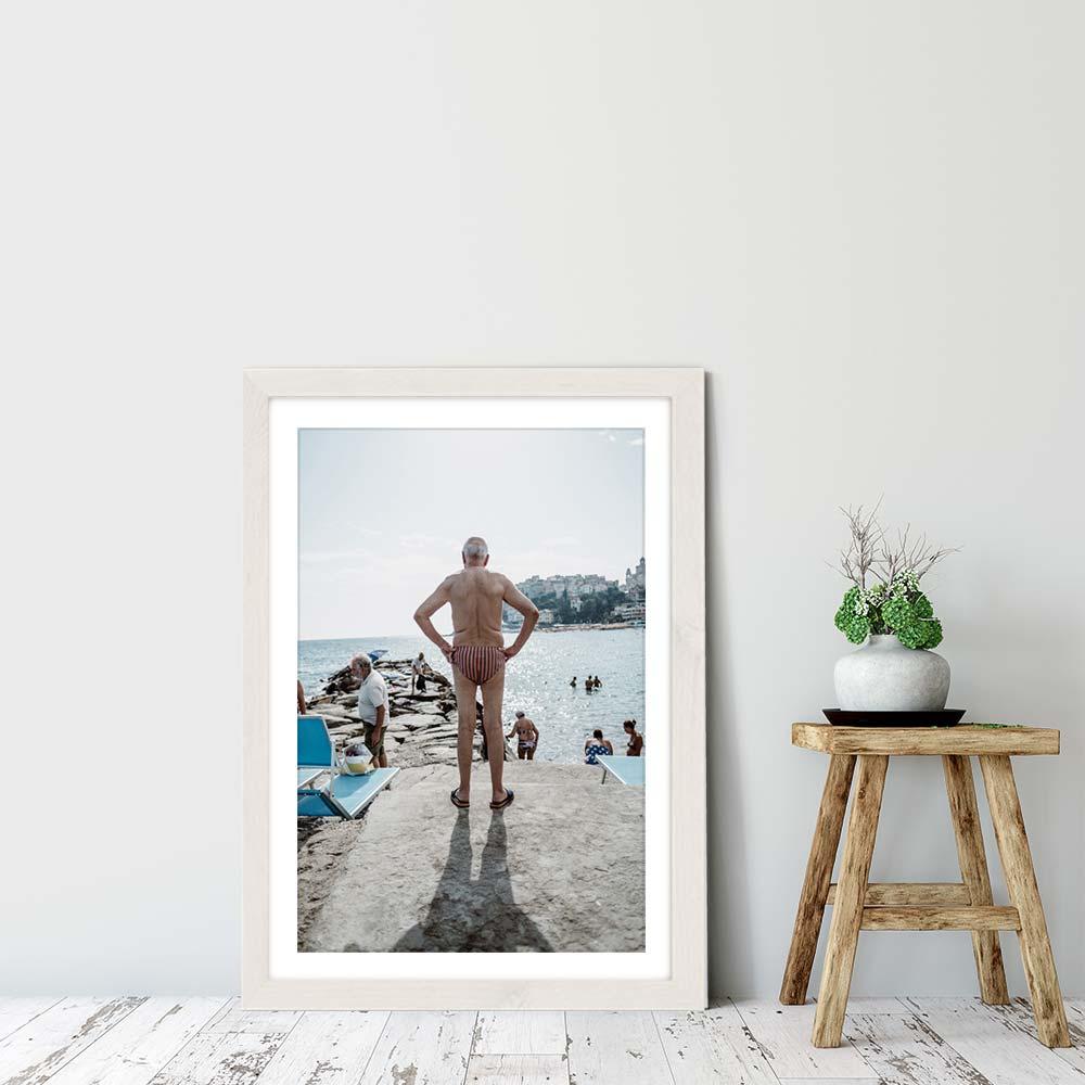Dolce Vida Art Print White Frame | Bombinate