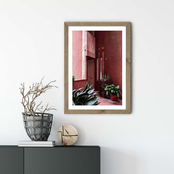 Walden 64 Art Print Oak Frame   Bombinate
