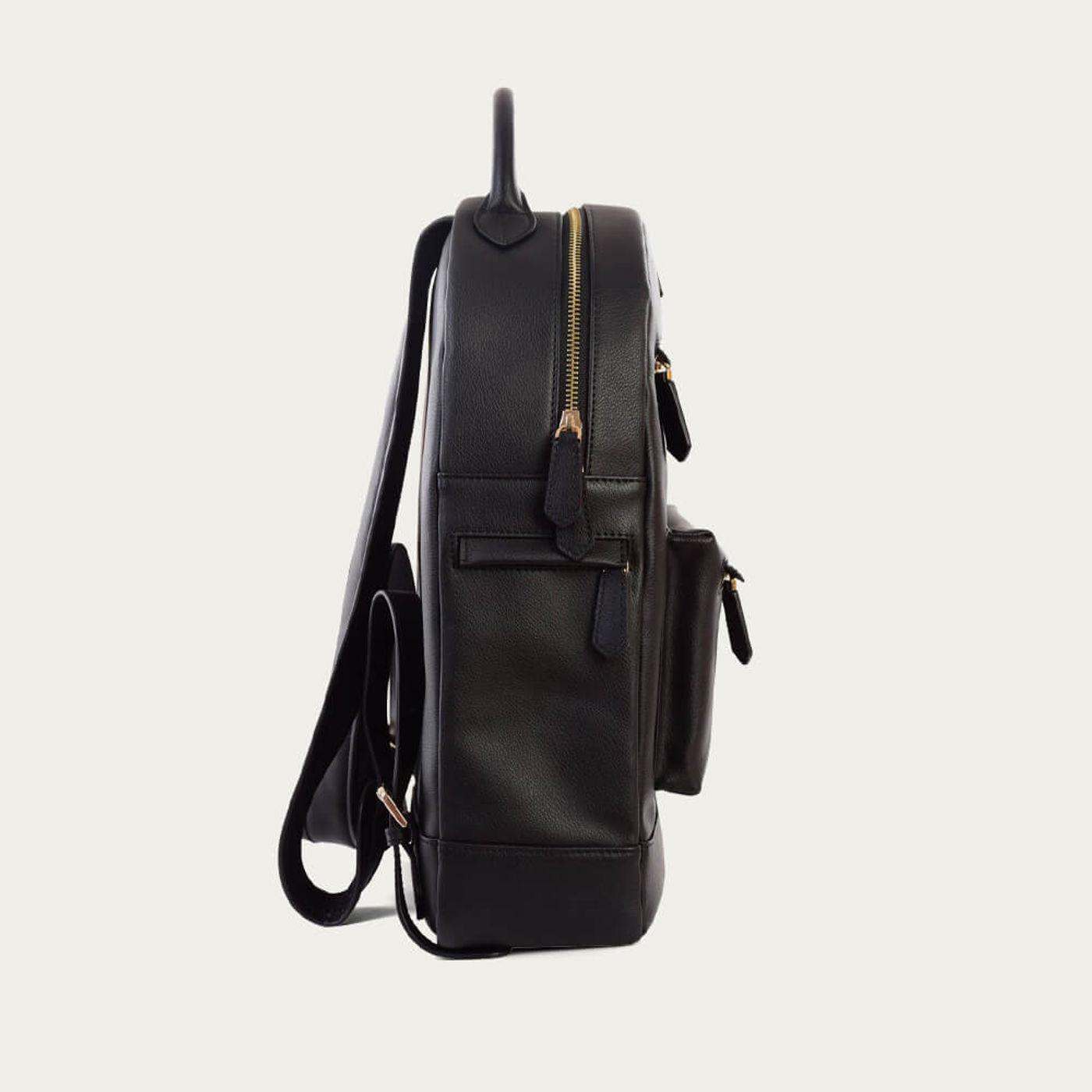 Black Leather Backpack | Bombinate