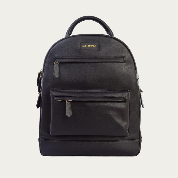 Black Leather Backpack | Bombinate
