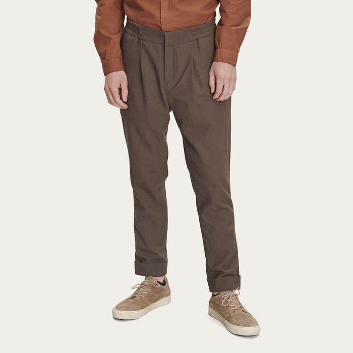 Brown Merino Wool Trousers | Bombinate