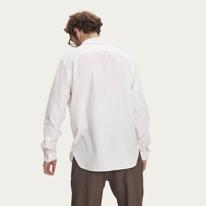 Off-White Farmer Shirt in Italian Cotton Blend | Bombinate