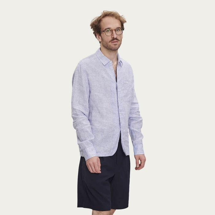 Strong Shirt in Light Blue Linen | Bombinate
