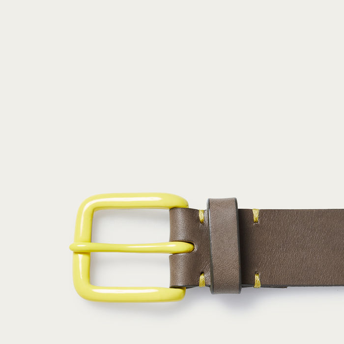 Form Grey/Citron Modernist Belt  | Bombinate