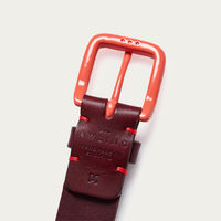 Oxblood/Terracotta Modernist Belt  | Bombinate