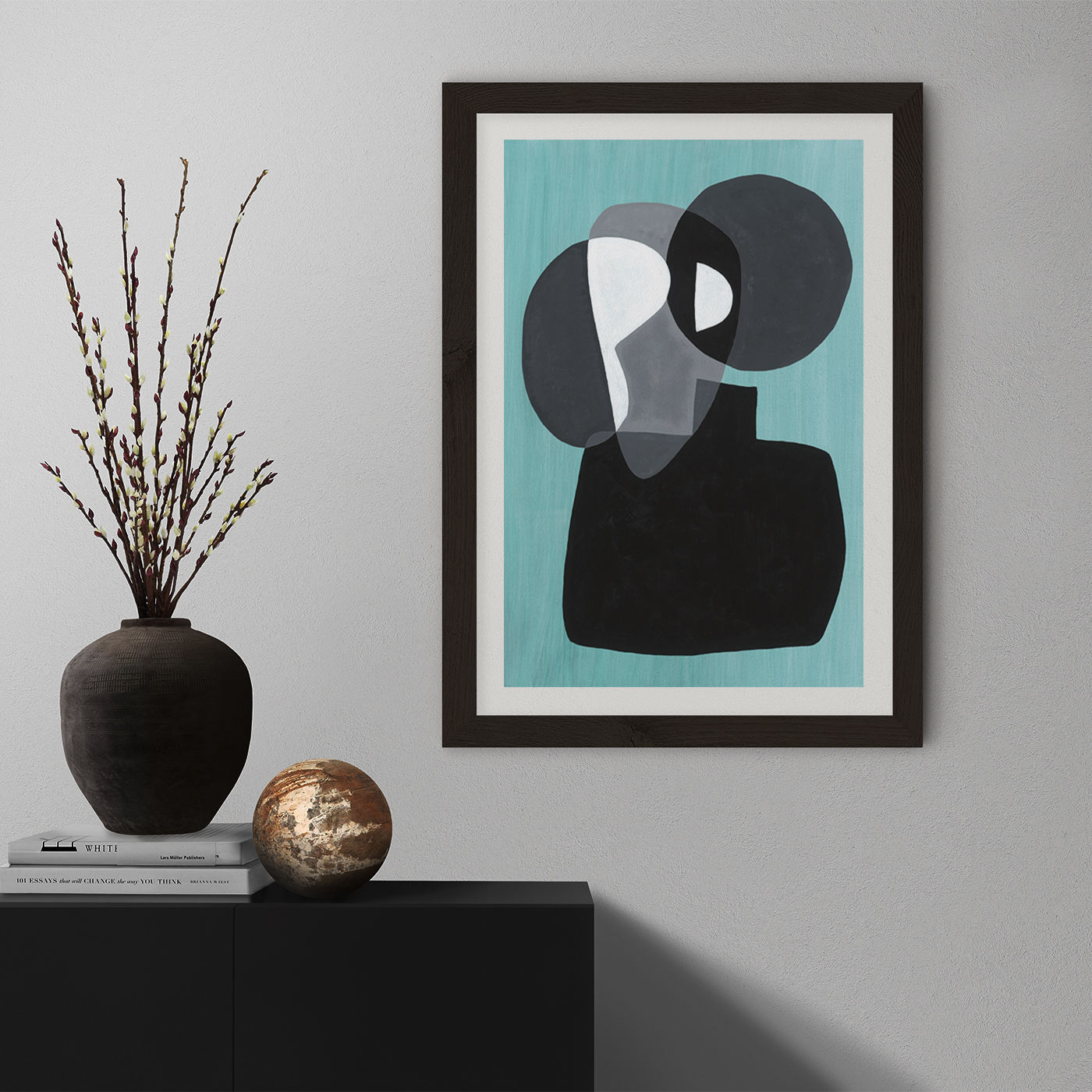 Reference #3.3 Art Print Black Frame   Bombinate