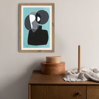 Reference #3.3 Art Print Oak Frame   Bombinate