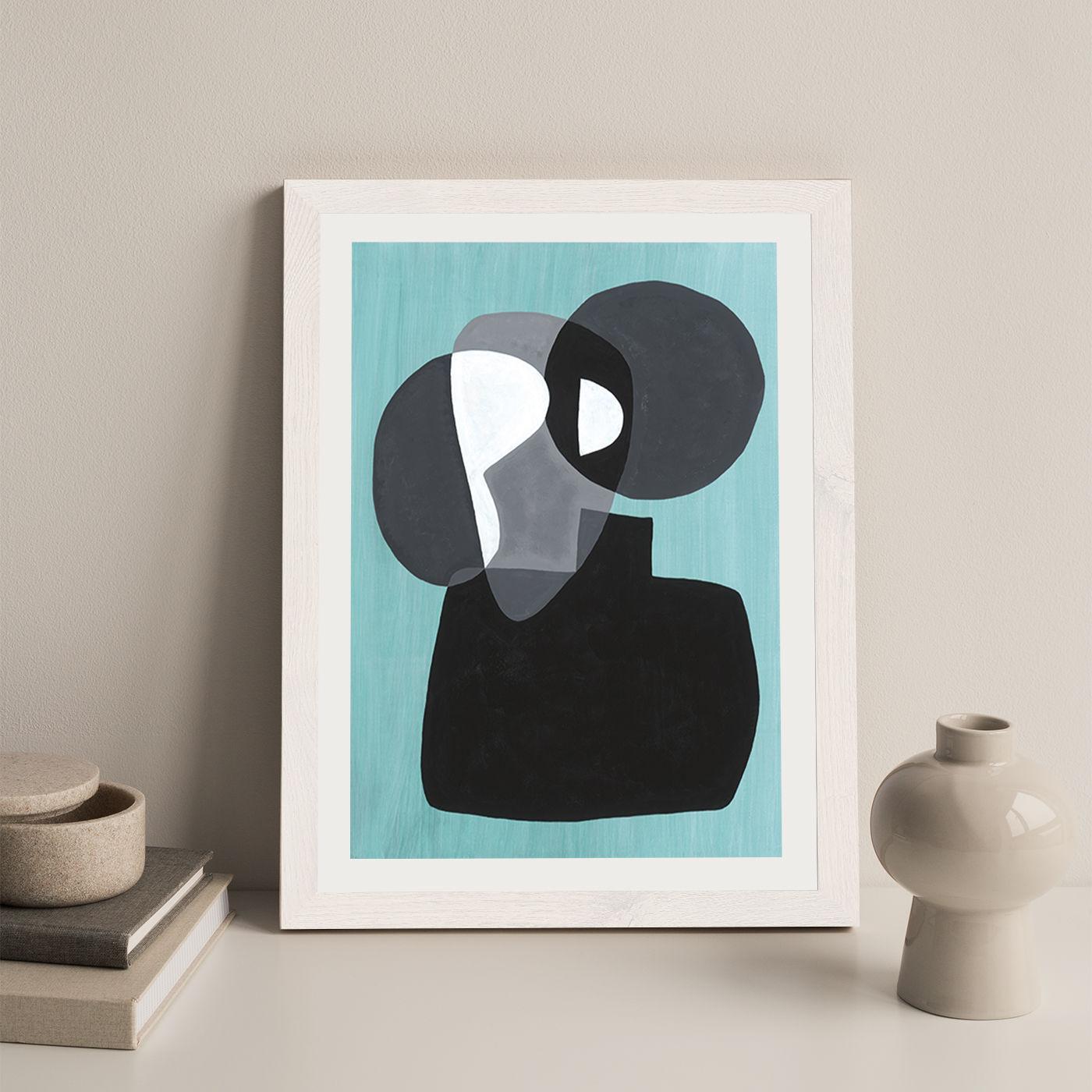 Reference #3.3 Art Print White Frame   Bombinate