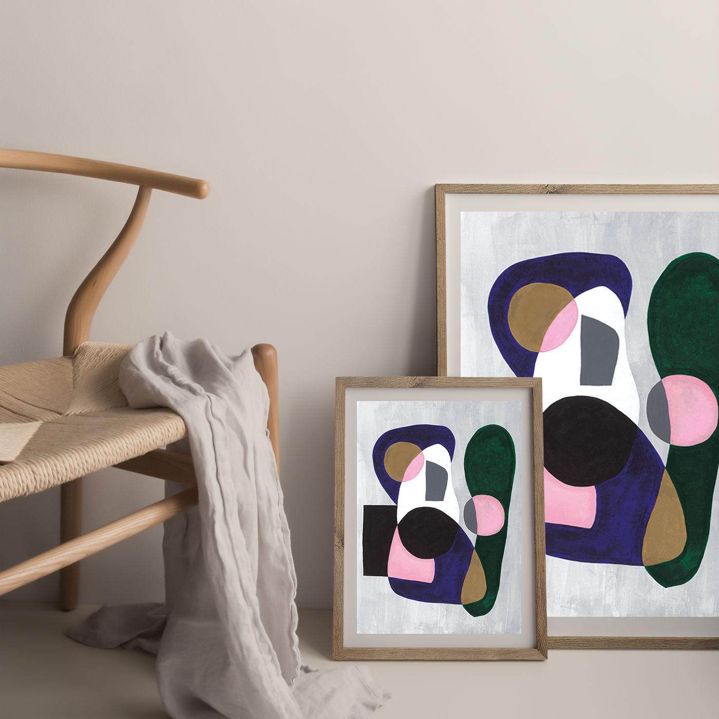 Reference #3.5 Art Print Oak Frame | Bombinate