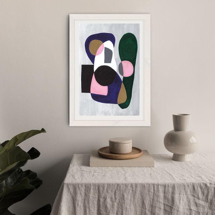 Reference #3.5 Art Print White Frame   Bombinate