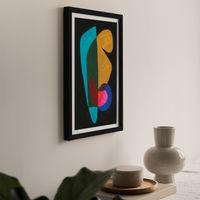 Reference #3.6 Art Print Black Frame | Bombinate