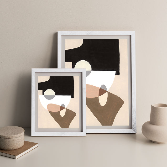 Reference #4.7 Art Print White Frame   Bombinate