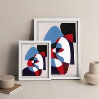 Reference #5.1 Art Print White Frame   Bombinate