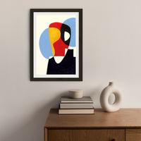 Revisit #5 Art Print Black Frame | Bombinate