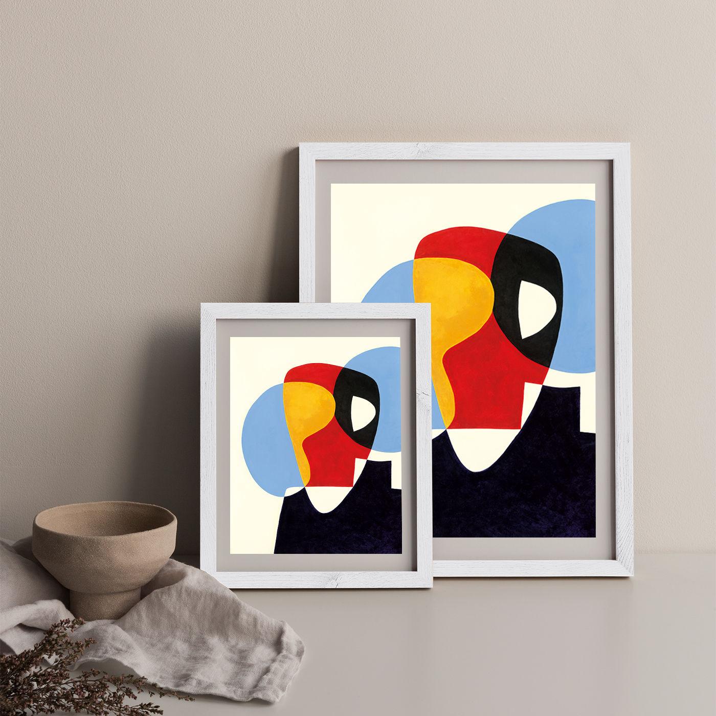 Revisit #5 Art Print White Frame   Bombinate