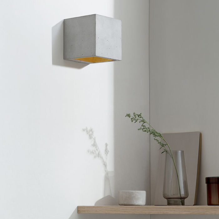 Graphite Grey Wall Light Cubic Small | Bombinate
