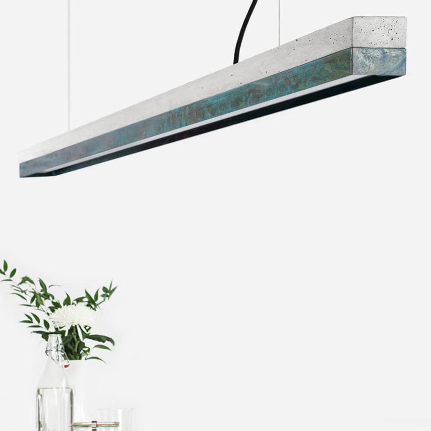 Graphite Grey Concrete & Oxid Pendant Light   Bombinate