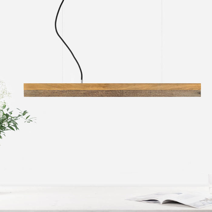 Oak Wood & Old Wood Pendant Light | Bombinate