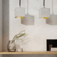 Graphite Grey Pendant Light Cubic Small | Bombinate