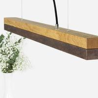 Oak Wood & Corten Pendant Light | Bombinate