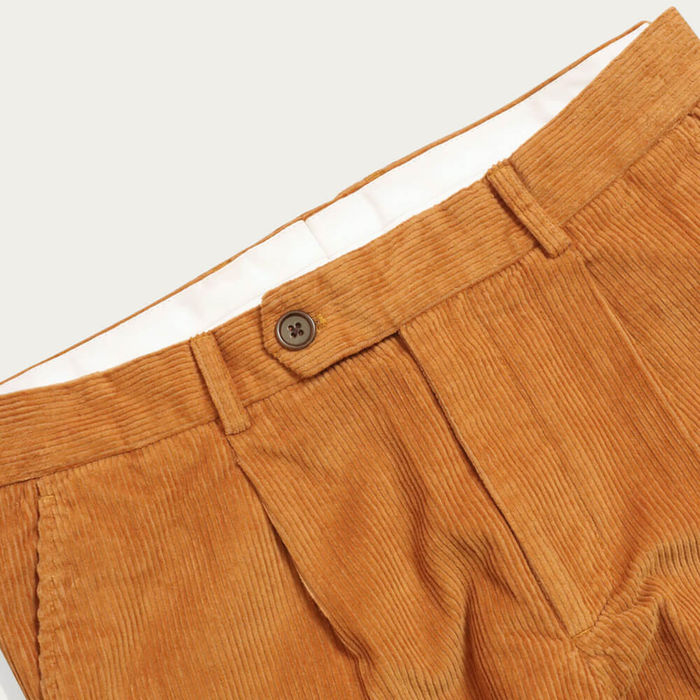 Orange Pleat Trousers | Bombinate