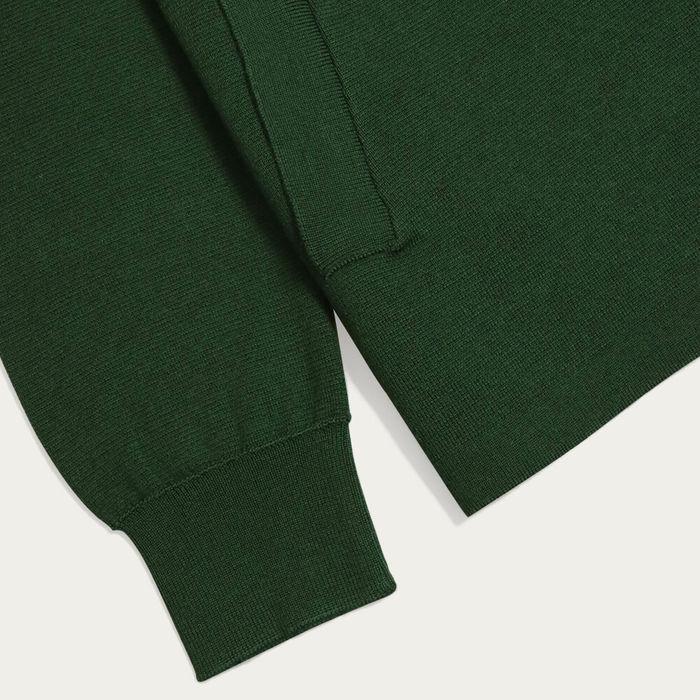 Green Alexsey Zipper Cardigan | Bombinate