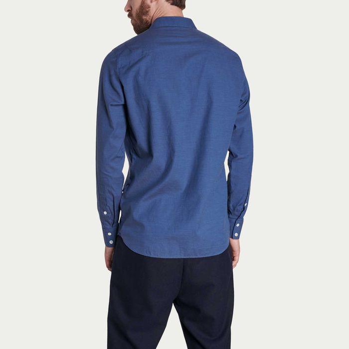 Feel Good Blue Satin Shirt   Bombinate