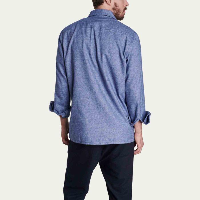 Blue flannel overshirt | Bombinate