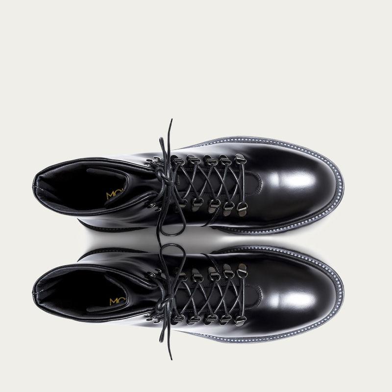 Black Leather Stonehenge Boots 3