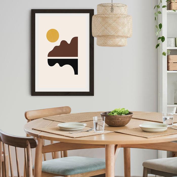 Big Sur Art Print Black Frame   Bombinate