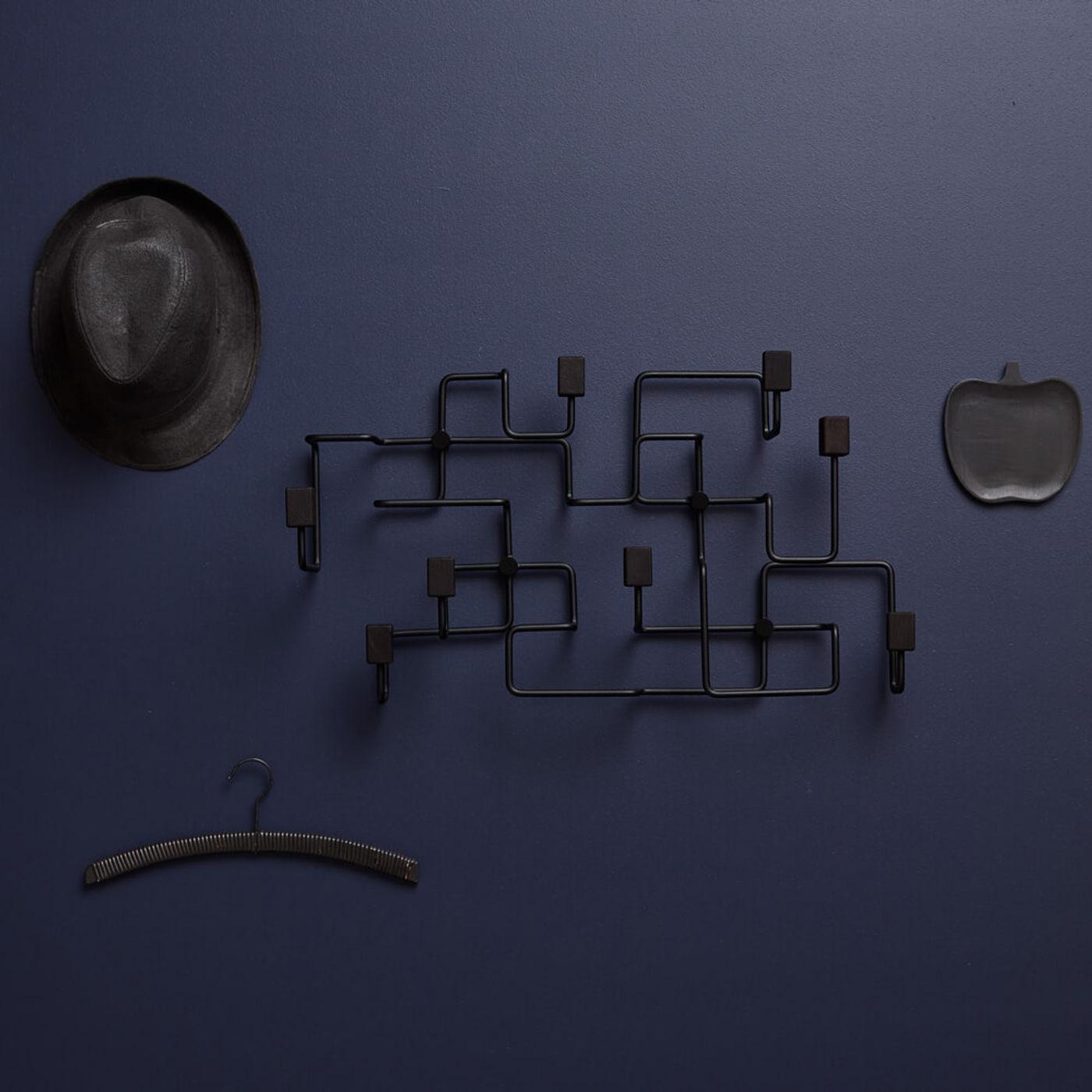 Black Oak Black Underground Coat Rack   Bombinate