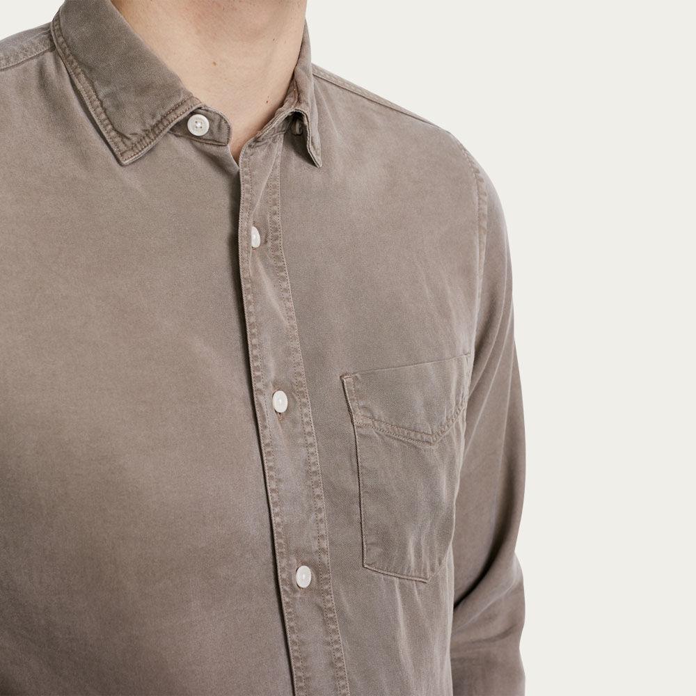 Sand Bassett Casual Long Sleeve Shirt  | Bombinate