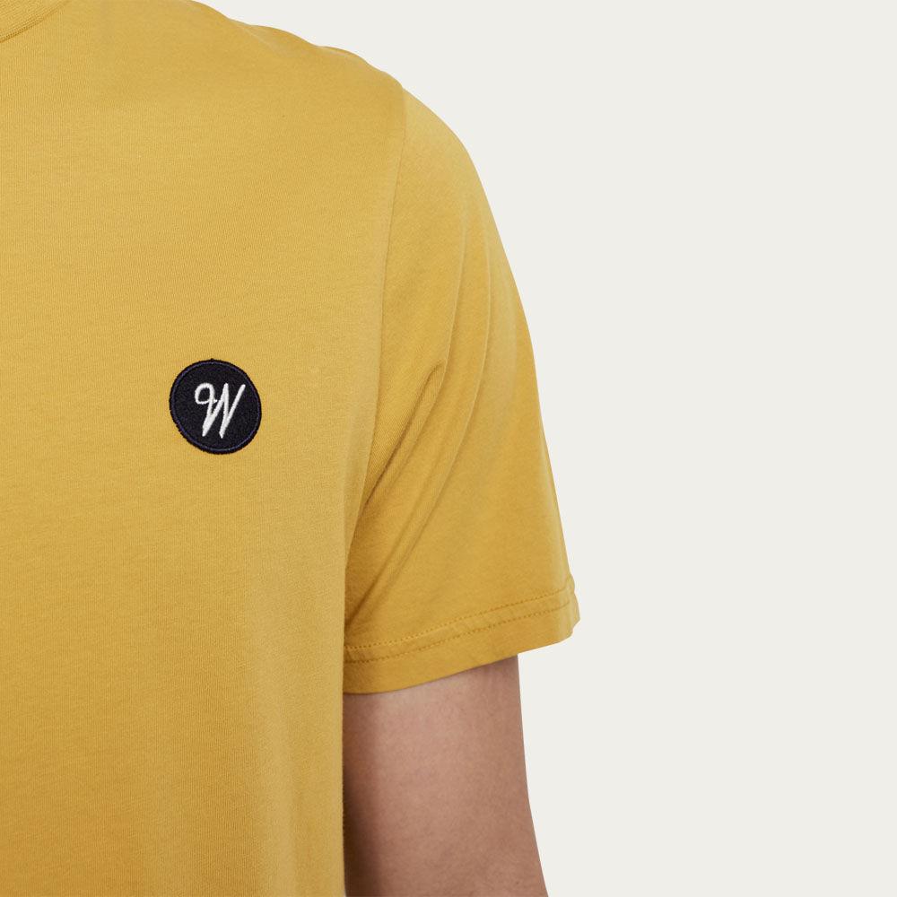Pale Yellow Reid Badge Logo T-shirt  | Bombinate