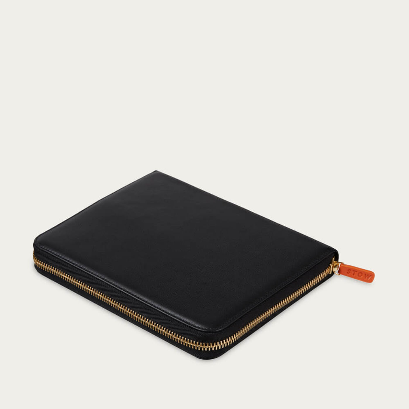 Jet & Soft Sand The First Class Leather Tech Case | Bombinate