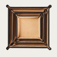 Jet & Soft Sand Leather Valet Tray Gift Set | Bombinate